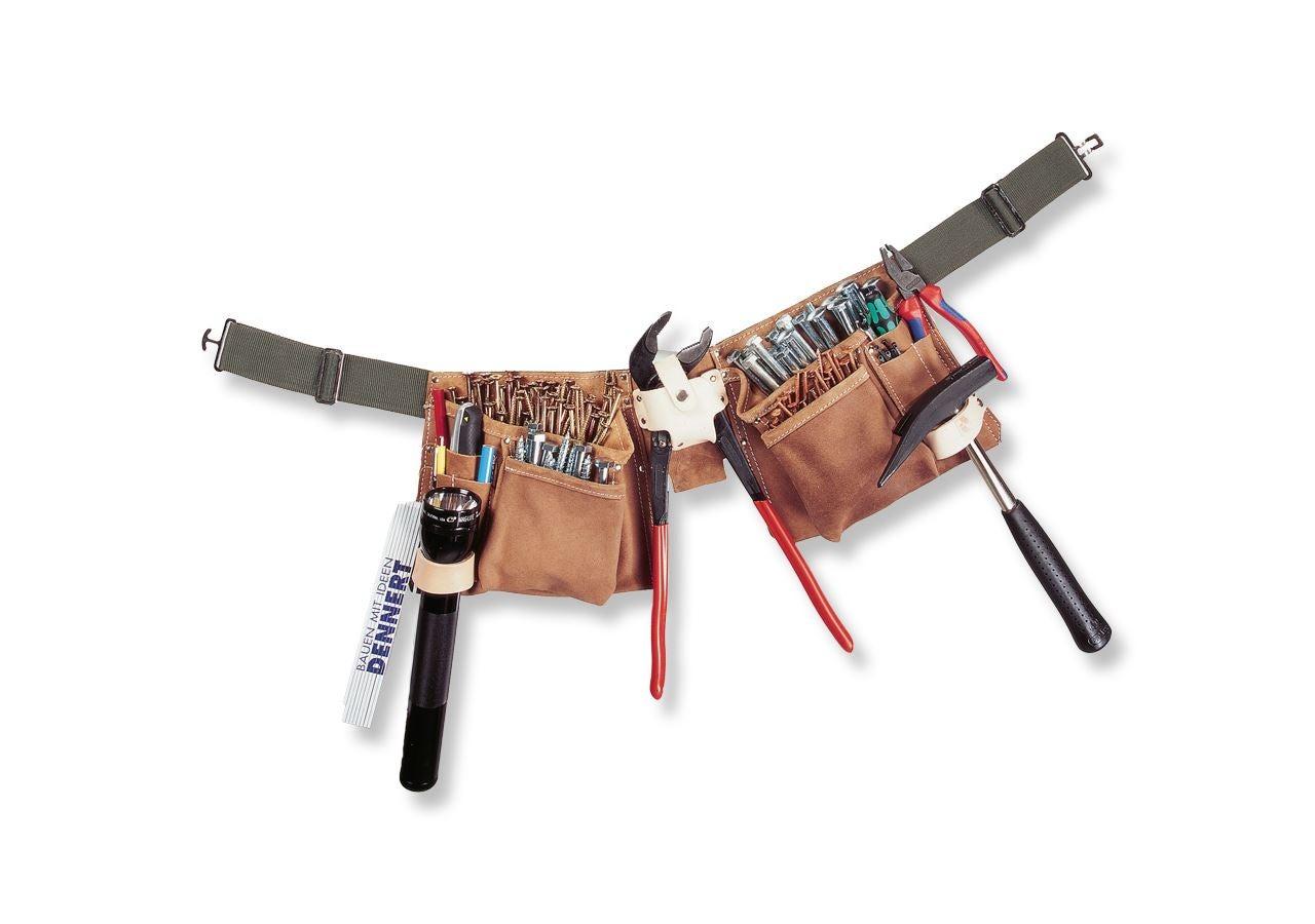 Værktøjstasker: Værktøjsforklæde, brunt + brun