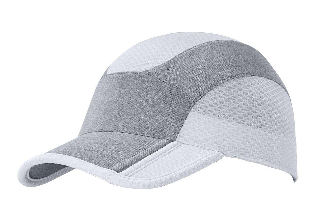 Accessories: e.s. Functional cap comfort fit + white/platinum-melange