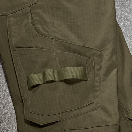 Work Trousers: Trousers e.s.concrete solid, ladies' + mudgreen 2