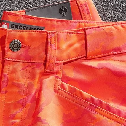 Arbejdsbukser: e.s. shorts color camo + camouflage rød 3