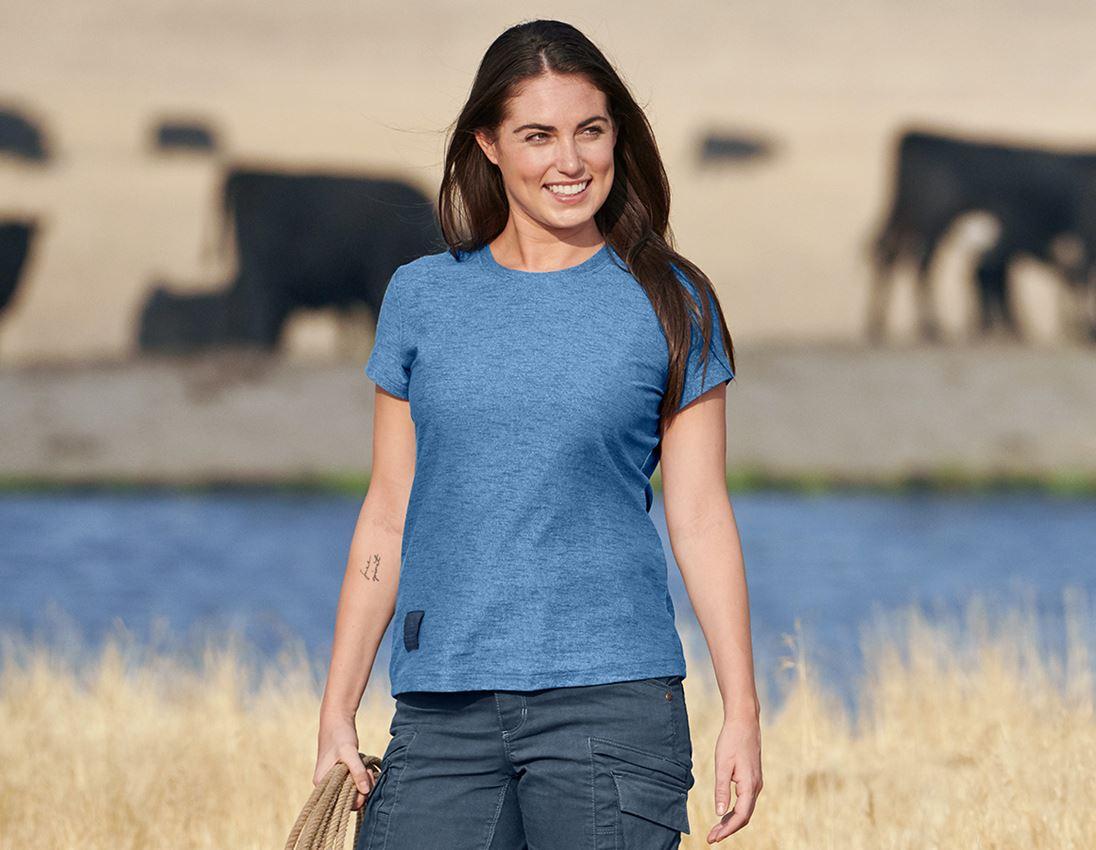 Shirts, Pullover & more: T-shirt e.s.vintage, ladies' + arcticblue melange
