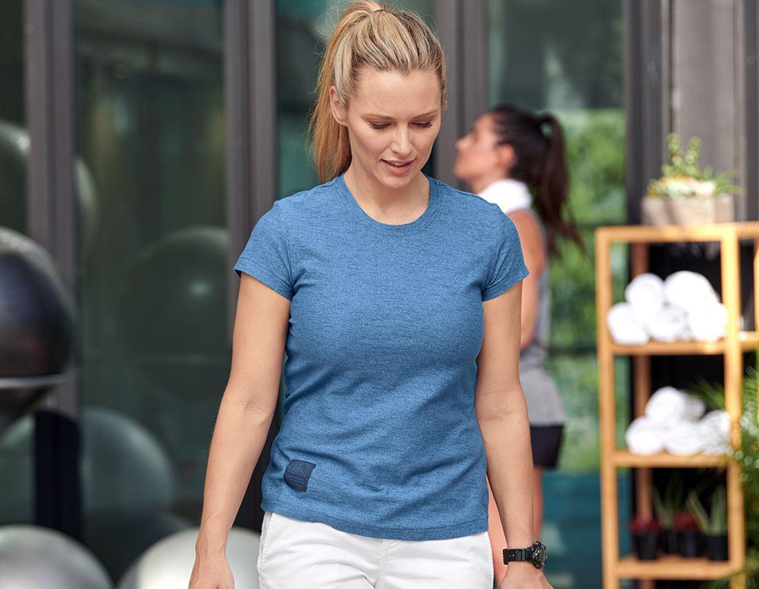 Shirts, Pullover & more: T-shirt e.s.vintage, ladies' + arcticblue melange 1