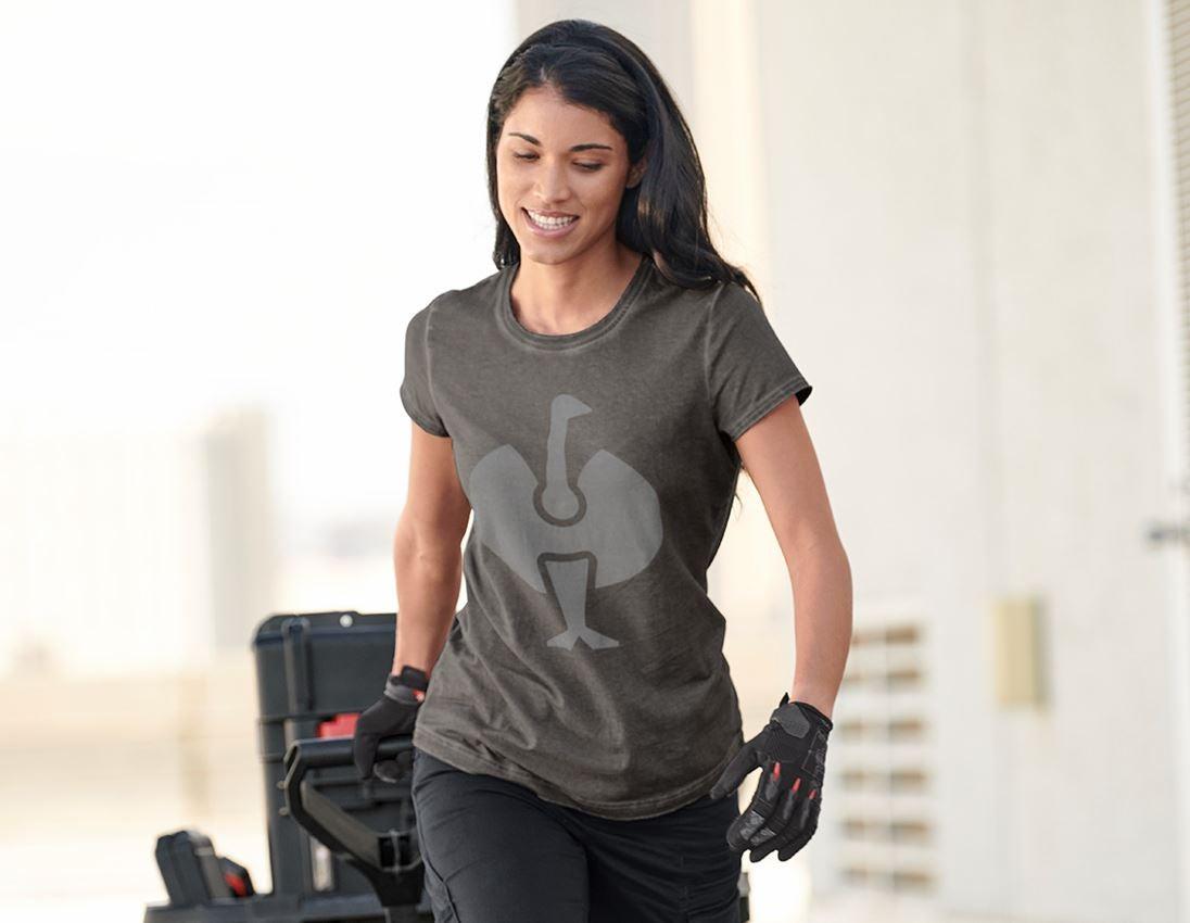 Shirts, Pullover & more: T-Shirt e.s.motion ten ostrich, ladies' + granite vintage 1