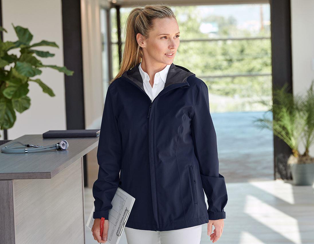 Work Jackets: e.s. Functional jacket CI, ladies' + navy