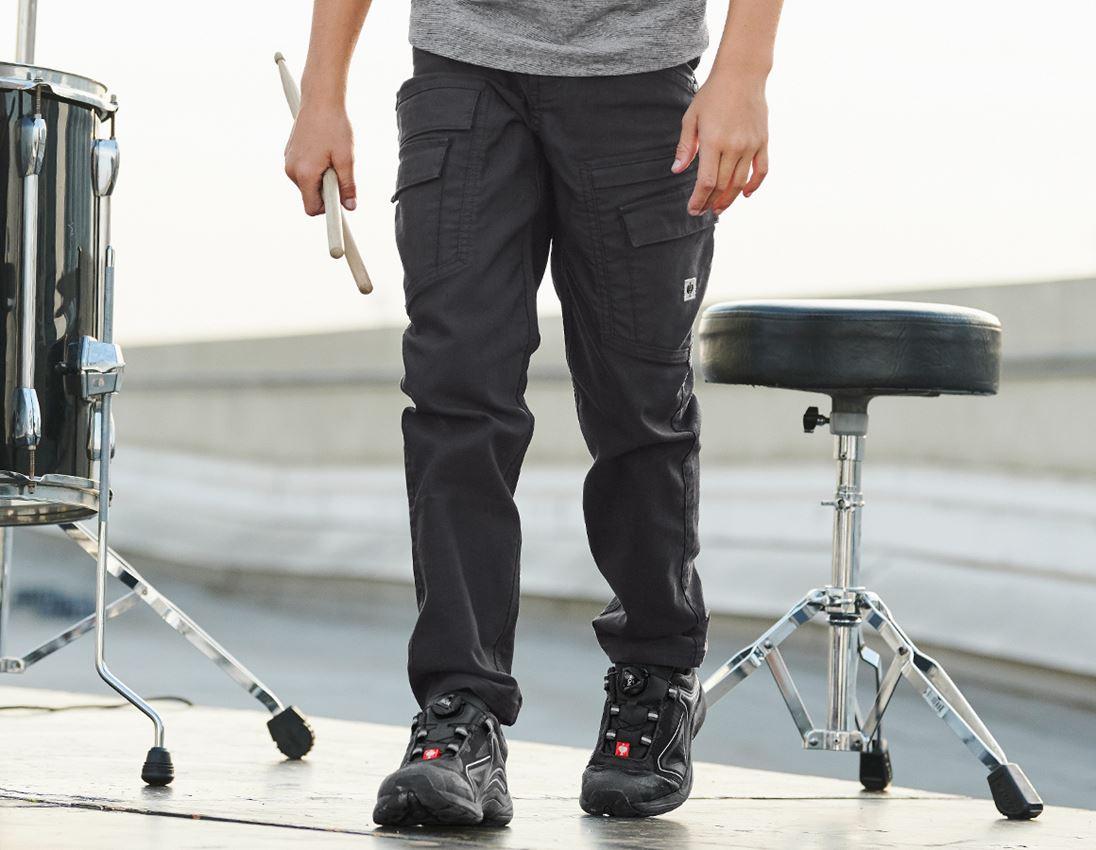 Trousers: Cargo trousers e.s.vintage, children's + black