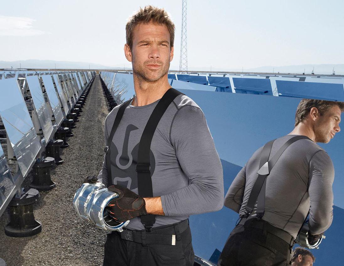 Underwear | Functional Underwear: e.s. Long sleeve Merino, men's + cement/graphite