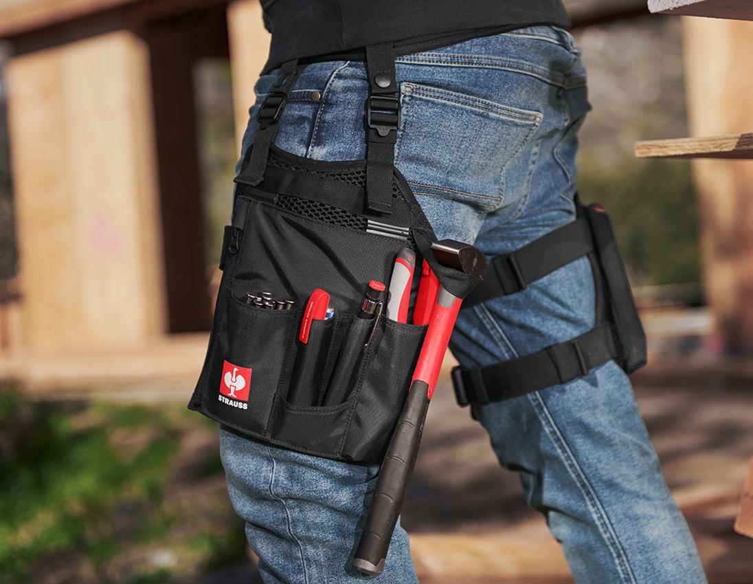 Accessories: e.s. værktøjslomme-sæt Legpack + sort