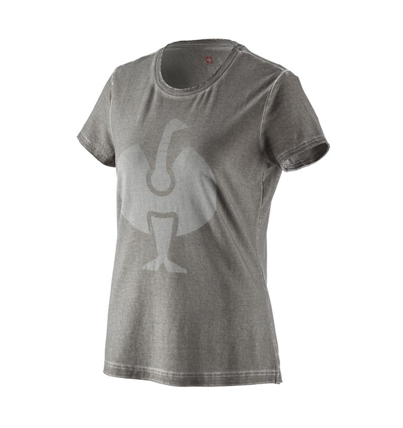 Shirts, Pullover & more: T-Shirt e.s.motion ten ostrich, ladies' + granite vintage