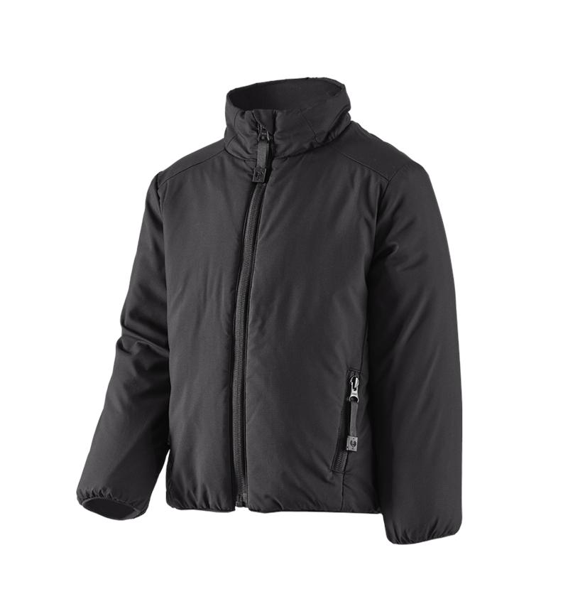 Jackets: e.s. Padded jacket CI, children's + black