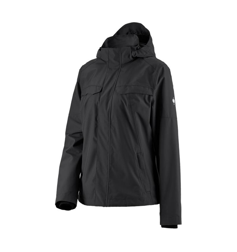 Work Jackets: Rain jacket e.s.concrete, ladies' + black