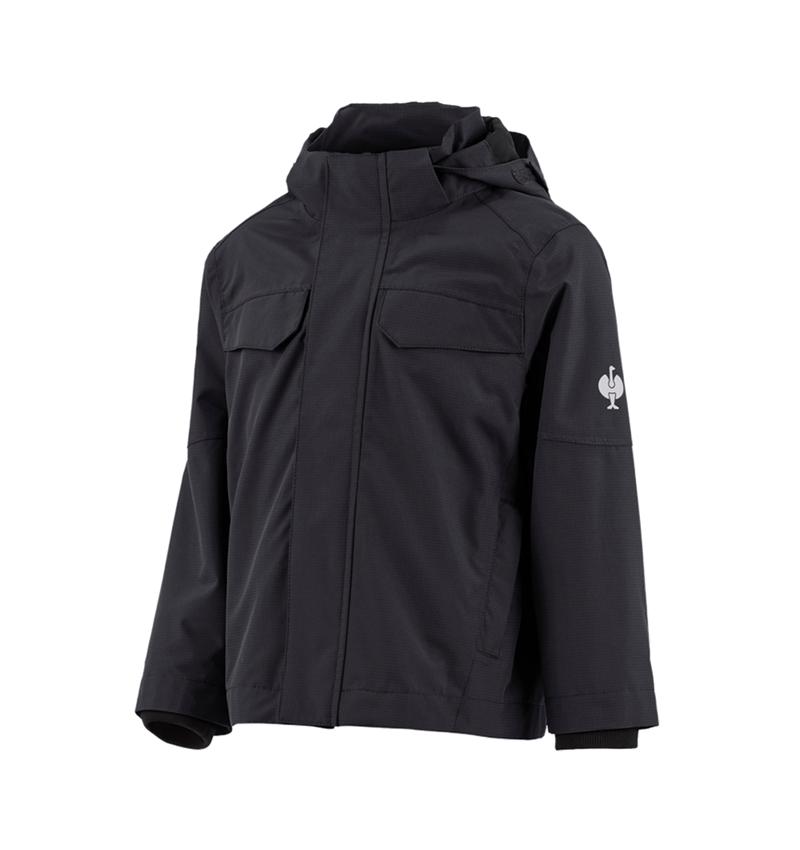 Jackets: Rain jacket e.s.concrete, children's + black
