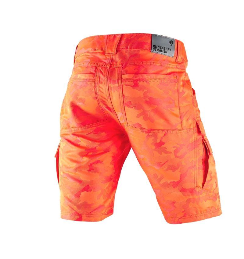 Arbejdsbukser: e.s. shorts color camo + camouflage rød 2