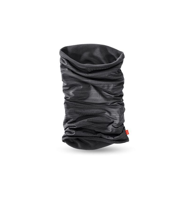 Accessories: e.s. Multifunctional microfleece scarf + black