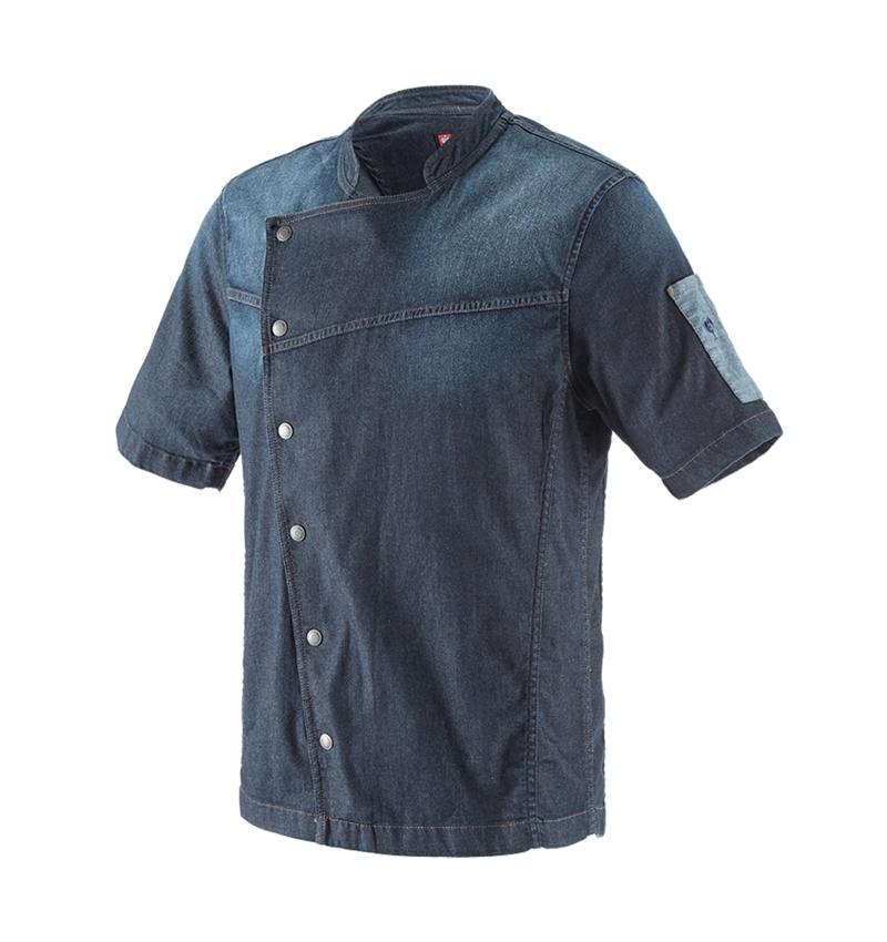 T-Shirts, Pullover & Skjorter: e.s. Kokkejakke denim + mediumwashed