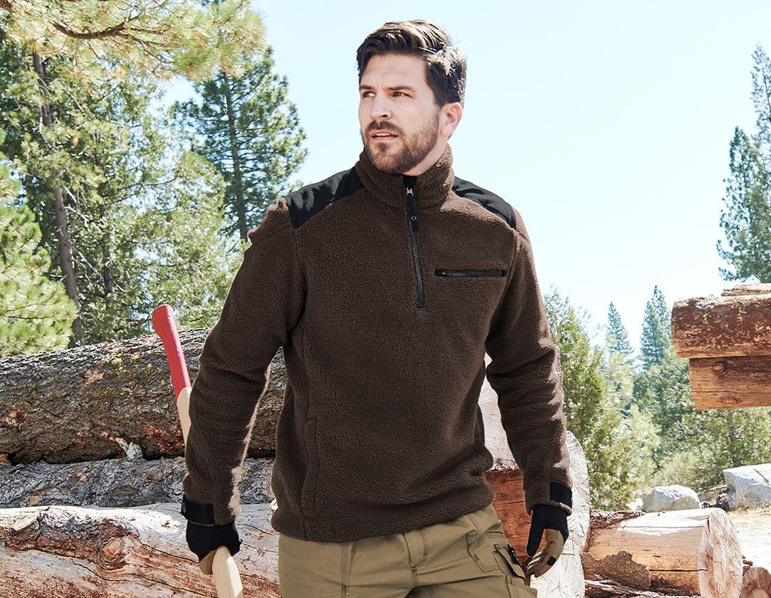 T-Shirts, Pullover & Skjorter: Fiberpelstrøjer e.s.roughtough + bark
