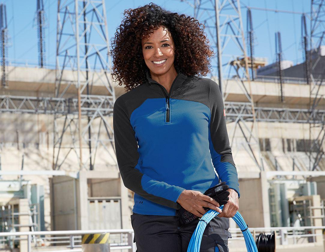 T-Shirts, Pullover & Skjorter: Fleecetrøje e.s.motion 2020, damer + ensianblå/grafit