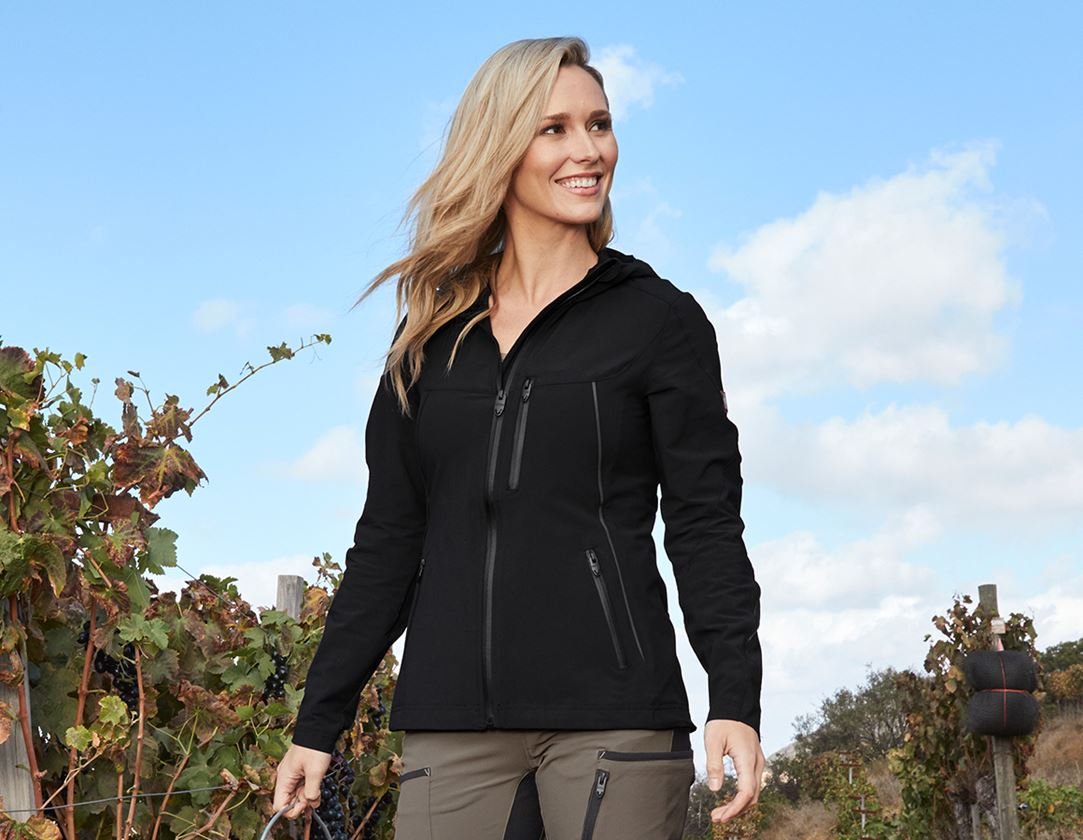Work Jackets: Jacket e.s.vision stretch, ladies' + black