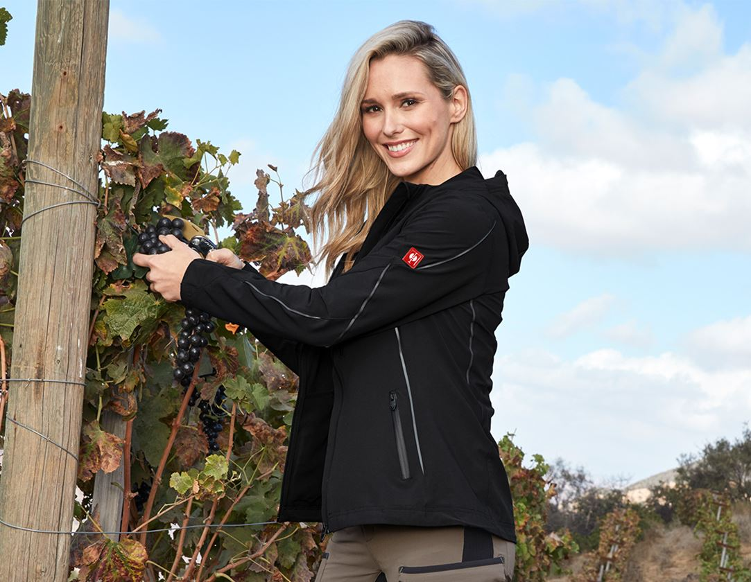 Work Jackets: Jacket e.s.vision stretch, ladies' + black 1