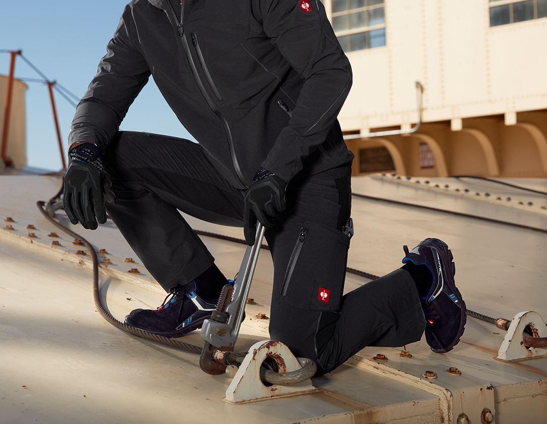 Arbejdsbukser: Cargobukser e.s.vision stretch, herrer + sort
