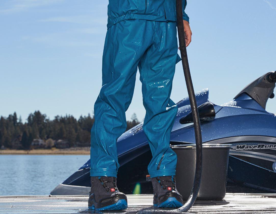 Trousers: Rain trousers e.s.motion 2020 superflex,children's + atoll/navy