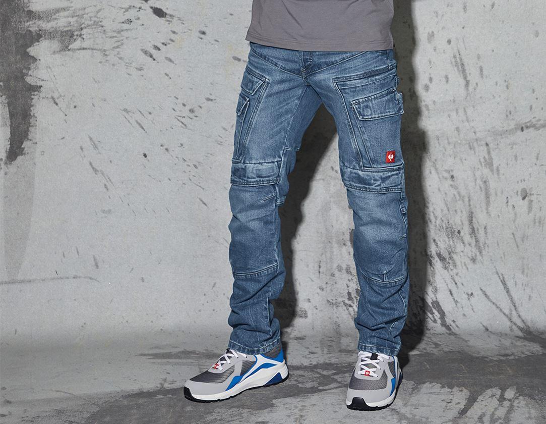 Arbejdsbukser: e.s. Cargo Worker jeans POWERdenim + stonewashed
