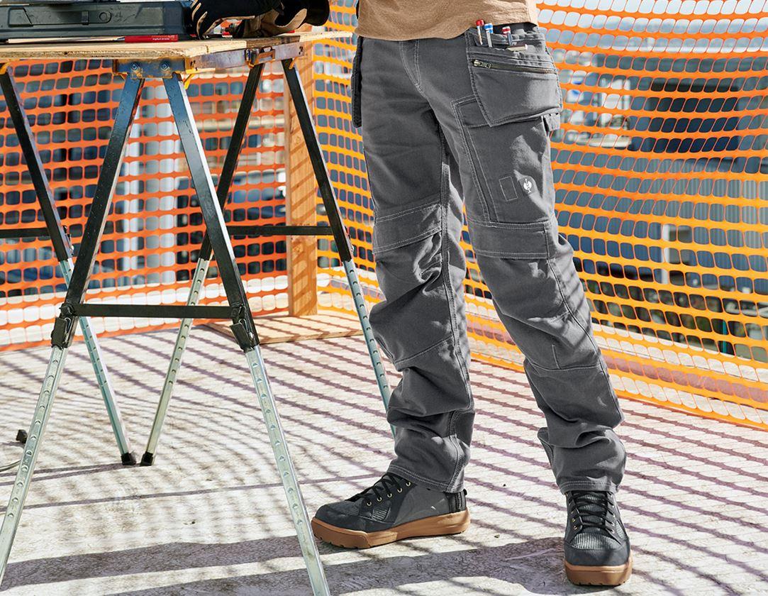 Arbejdsbukser: Holster-bukser e.s. vintage + tinfarve
