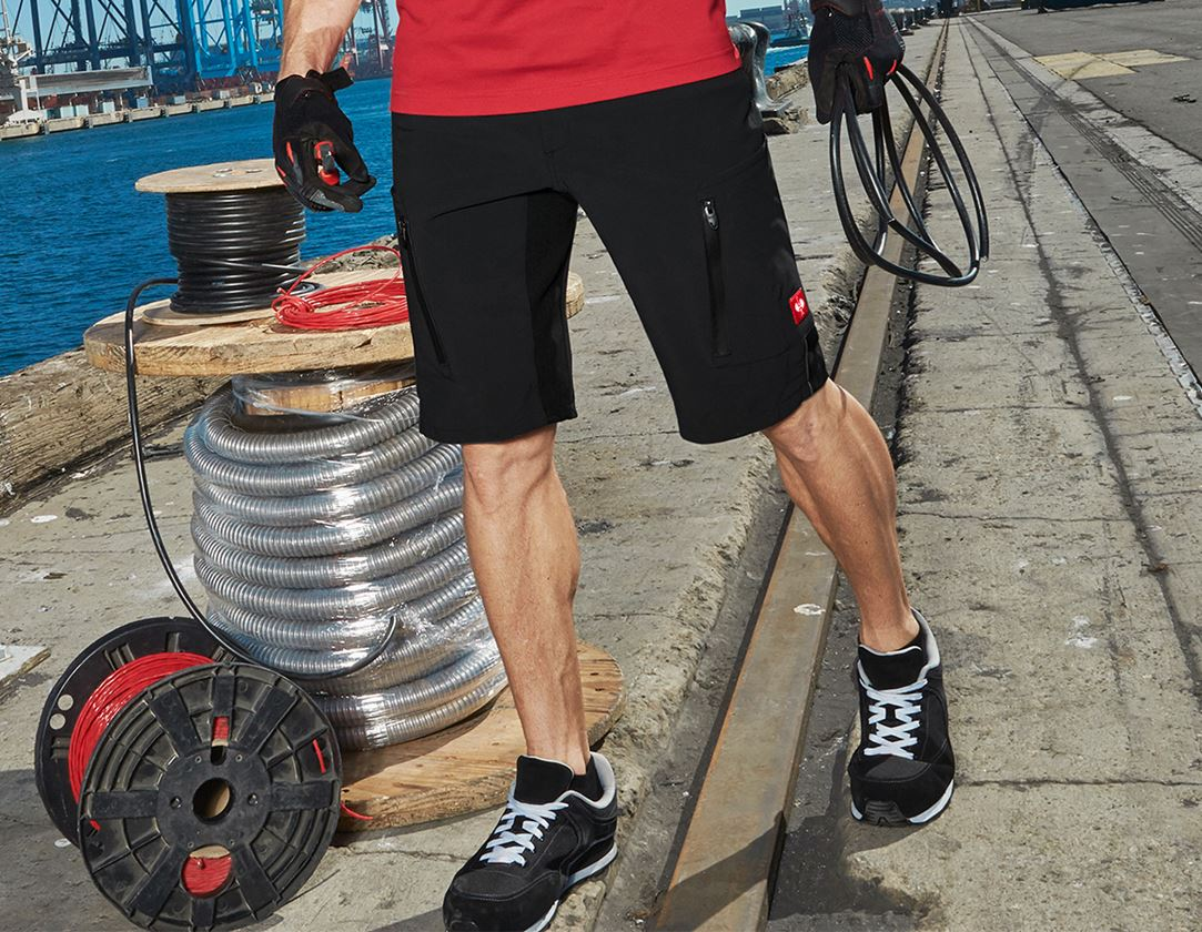 Arbejdsbukser: Shorts e.s.vision stretch, herrer + sort