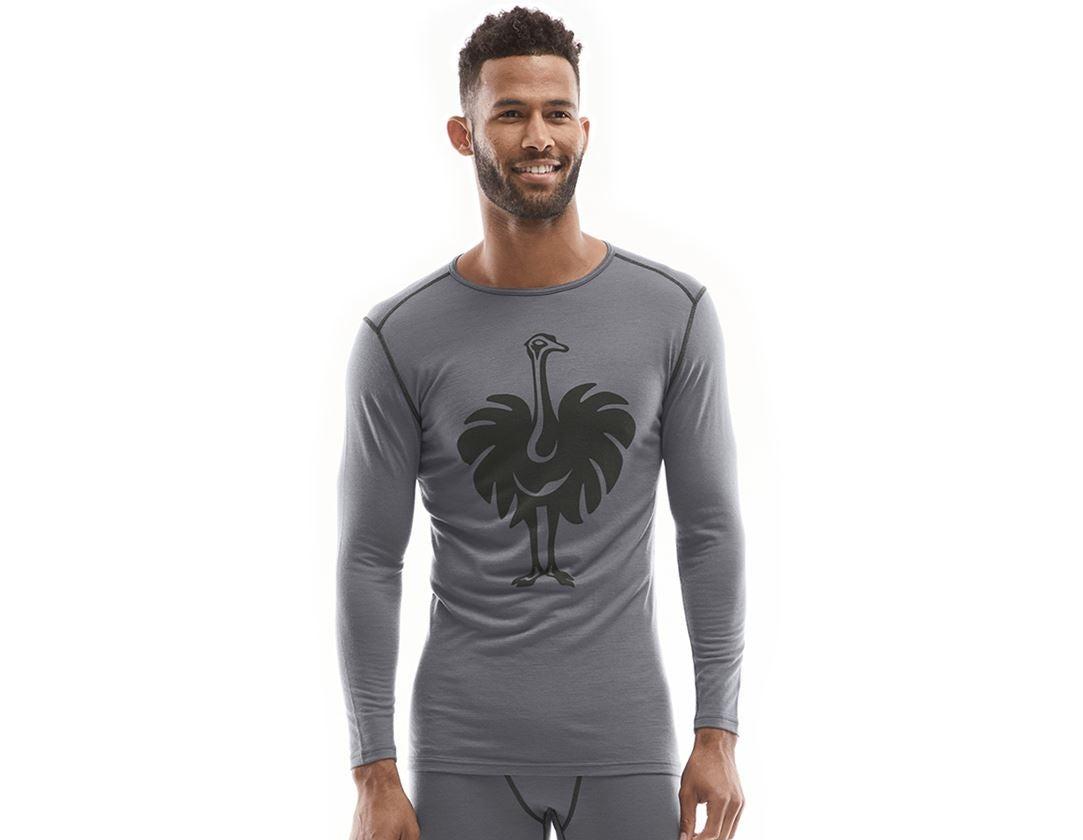 Underwear   Functional Underwear: e.s. Long sleeve Merino, men's + cement/graphite