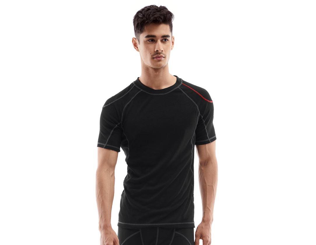 Underwear   Functional Underwear: e.s. functional-t-shirt basis-warm + black
