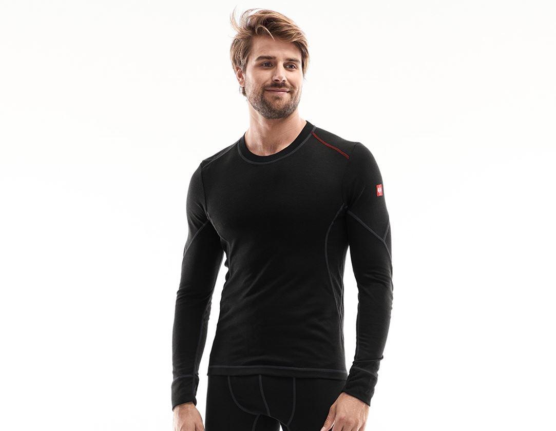 Underwear   Functional Underwear: e.s. functional-longsleeve basis-light + black