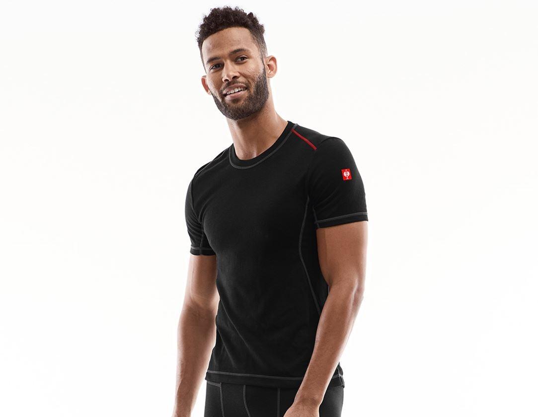 Underwear | Functional Underwear: e.s. functional-t-shirt basis-light + black