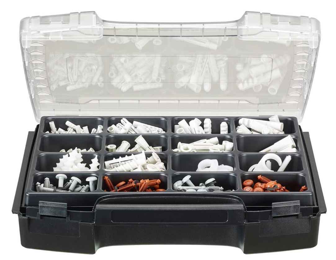 Rawlplugs: Sanitær-dyvelsæt, 460 dele