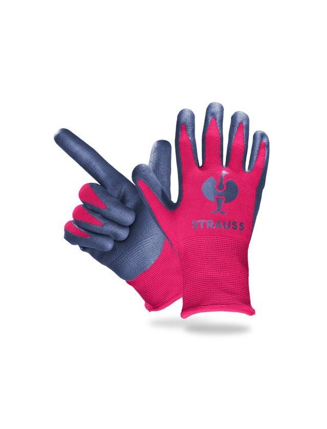 Accessories: e.s. Children's nitrile foam gloves + berry