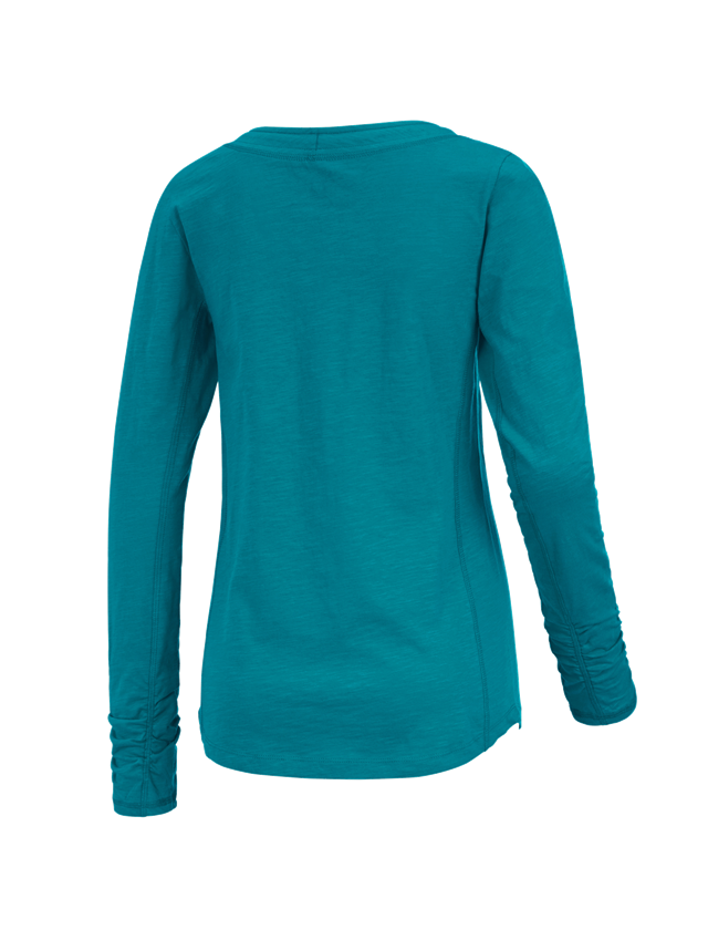 Shirts, Pullover & more: e.s. Long sleeve cotton slub, ladies' + ocean 1