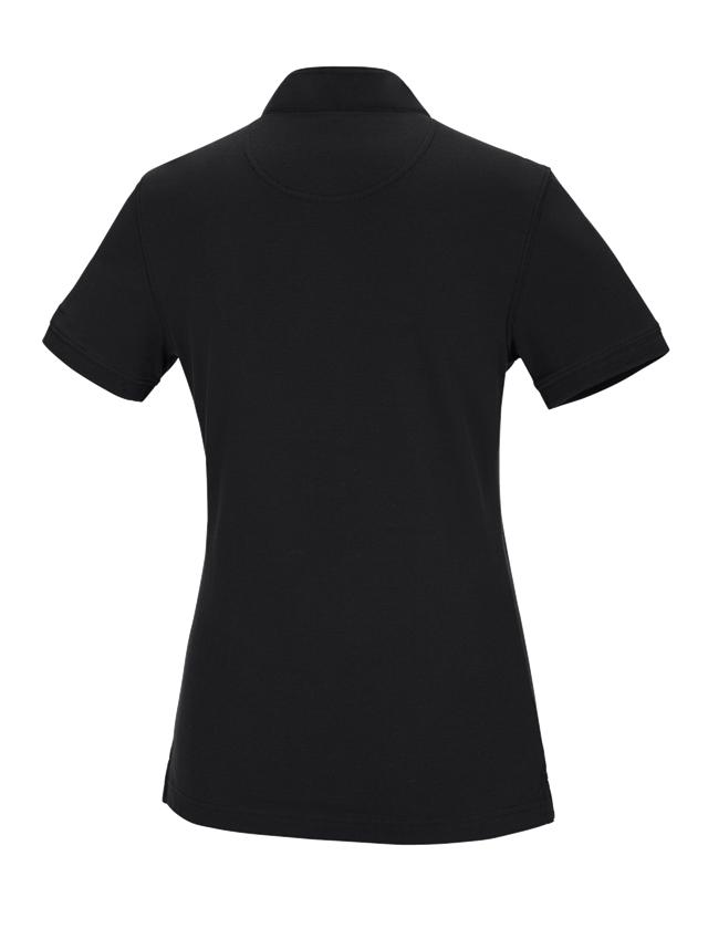 Shirts, Pullover & more: e.s. Polo shirt cotton Mandarin, ladies' + black 1
