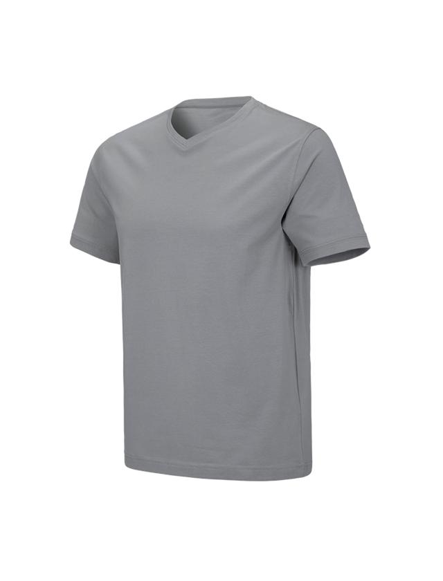 Shirts, Pullover & more: e.s. T-shirt cotton stretch V-Neck + platinum