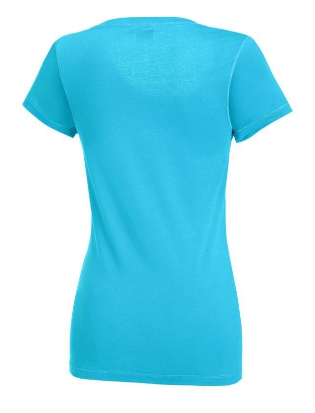 Shirts, Pullover & more: e.s. Long shirt cotton, ladies' + turquoise 1