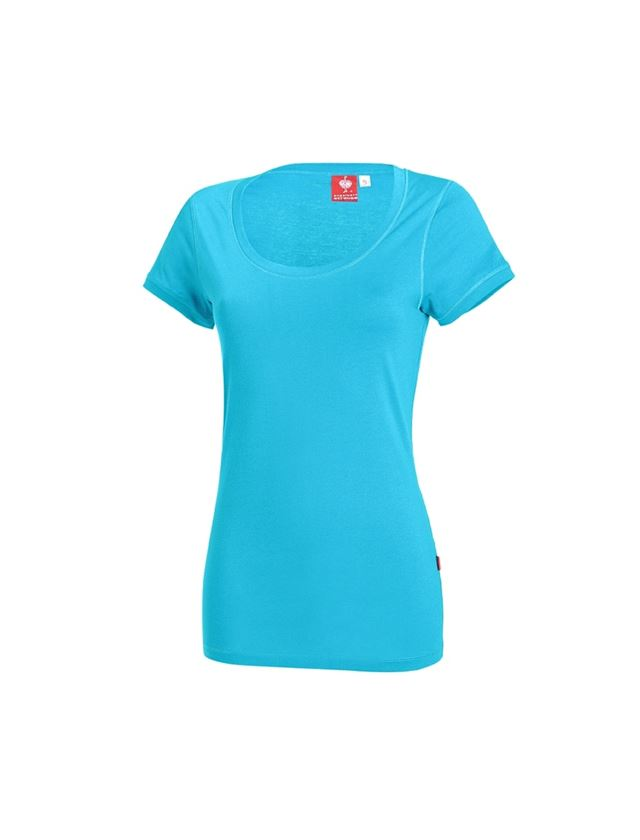 Shirts, Pullover & more: e.s. Long shirt cotton, ladies' + turquoise