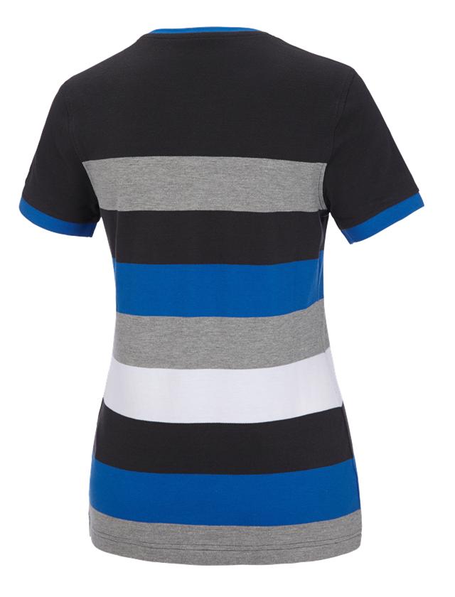 Shirts, Pullover & more: e.s. Pique-Shirt  cotton stripe, ladies' + graphite/gentian blue 1