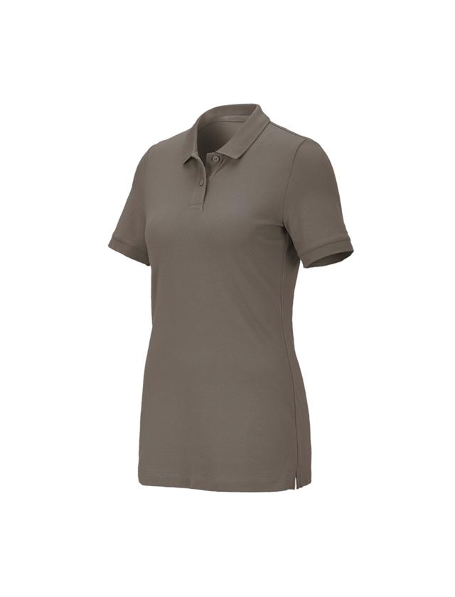 Shirts, Pullover & more: e.s. Pique-Polo cotton stretch,ladies' + stone