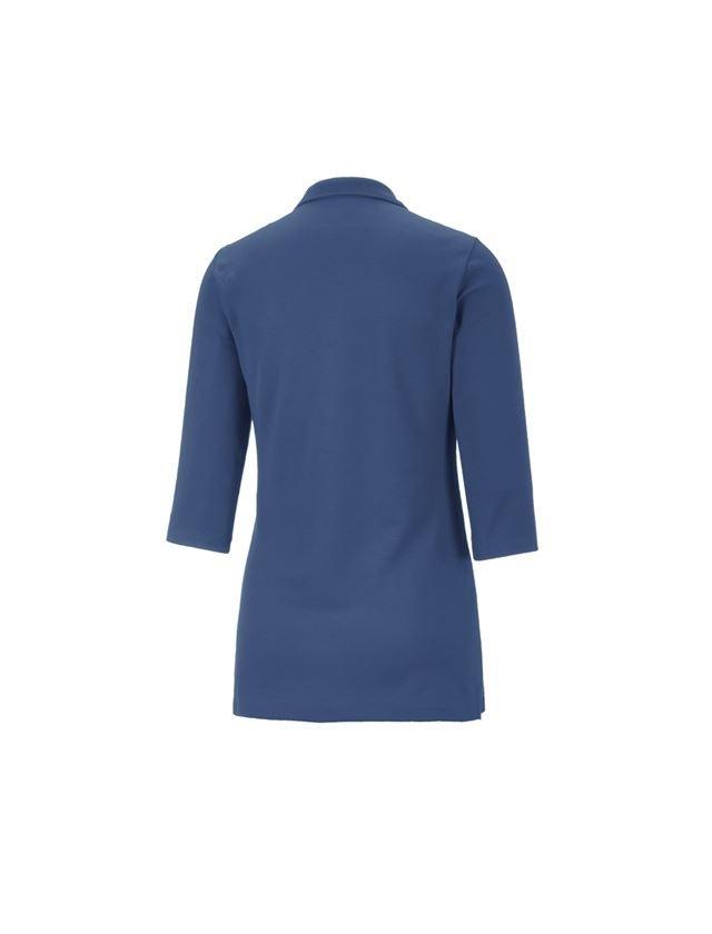 Shirts, Pullover & more: e.s. Pique-Polo 3/4-sleeve cotton stretch, ladies' + cobalt 1