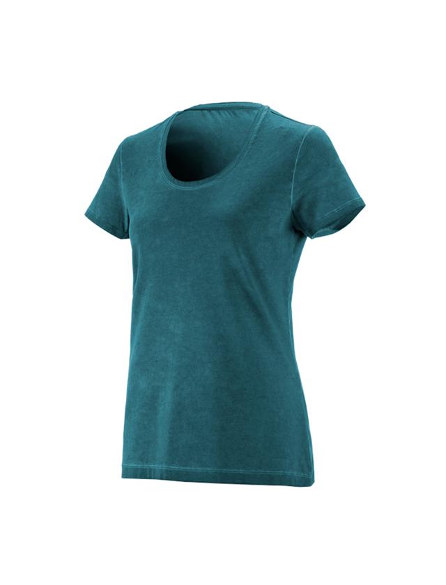 Shirts, Pullover & more: e.s. T-Shirt vintage cotton stretch, ladies' + darkcyan vintage