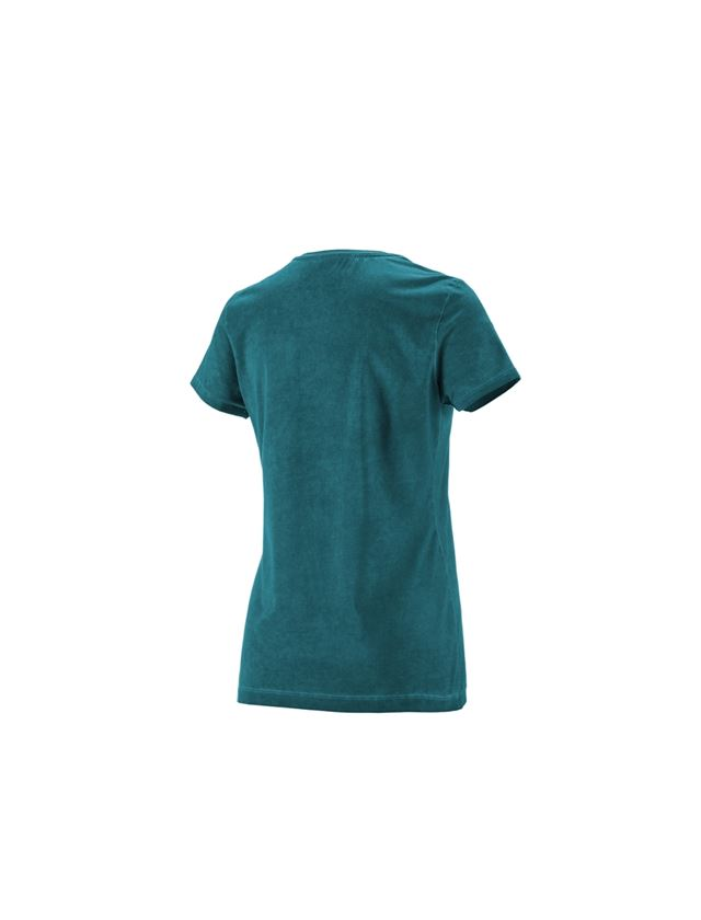 Shirts, Pullover & more: e.s. T-Shirt vintage cotton stretch, ladies' + darkcyan vintage 1