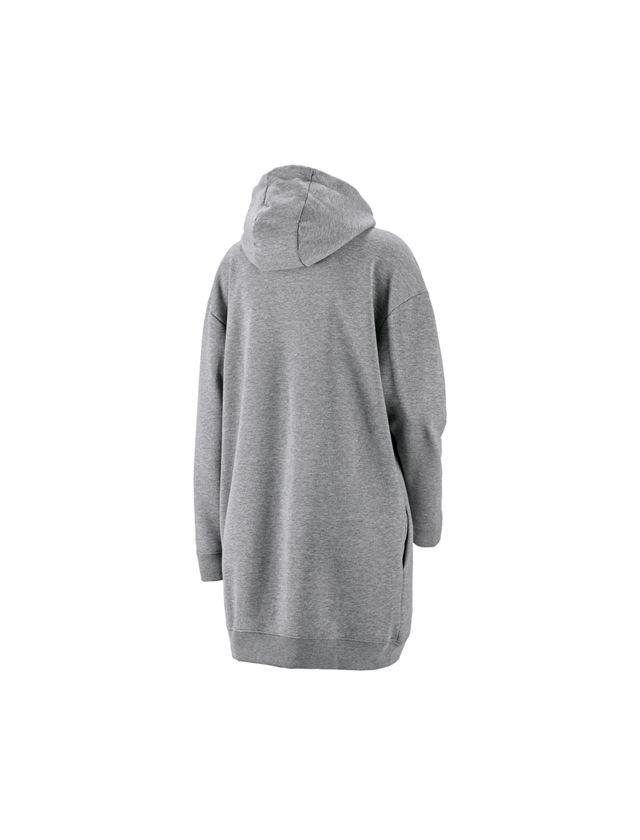 Shirts, Pullover & more: e.s. Oversize hoody sweatshirt poly cotton, ladies + grey melange 1