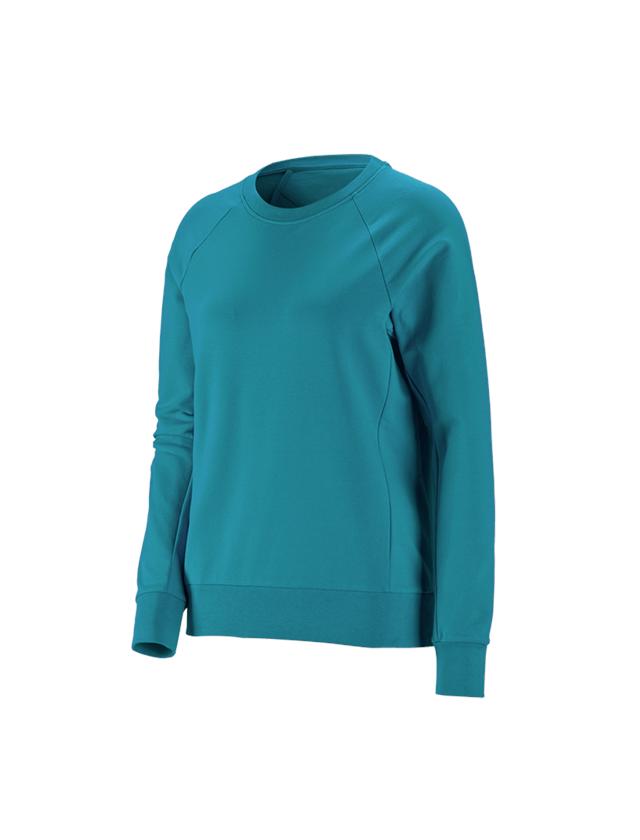 T-Shirts, Pullover & Skjorter: e.s. Sweatshirt cotton stretch, damer + ocean