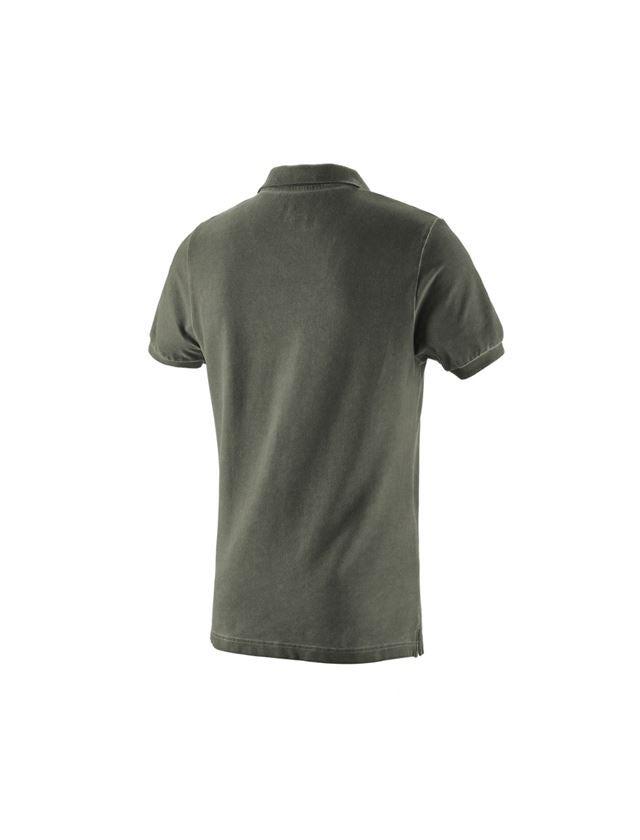 T-Shirts, Pullover & Skjorter: e.s. Polo-Shirt vintage cotton stretch + camouflagegrøn vintage 1