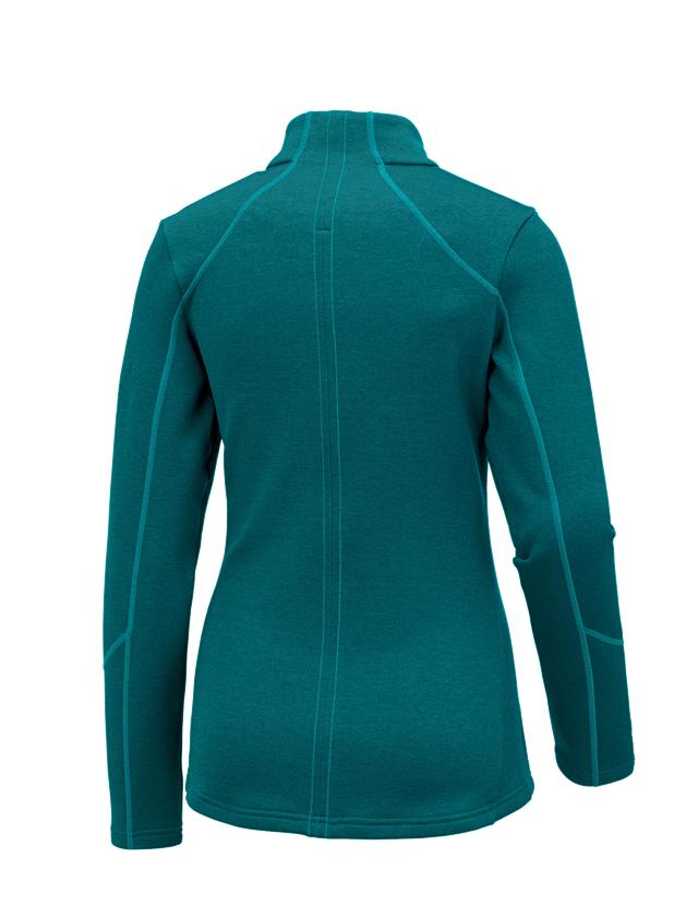 Work Jackets: e.s. Functional sweat jacket melange, ladies + ocean melange 1