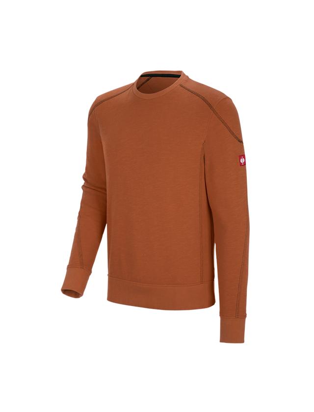 T-Shirts, Pullover & Skjorter: Sweatshirt cotton slub e.s.roughtough + kobber