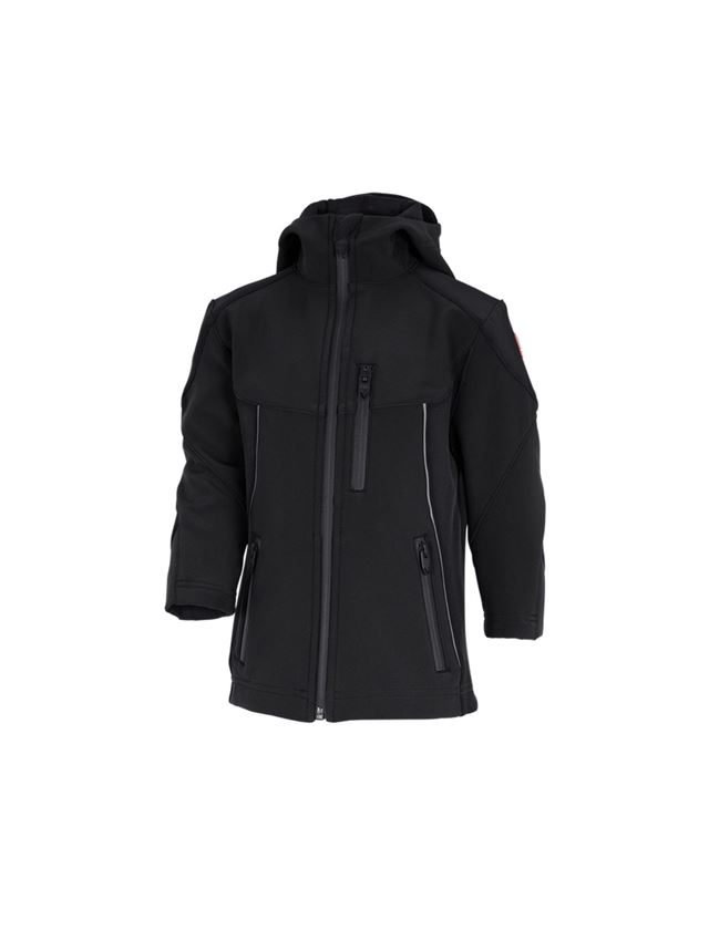 Jakker: Softshell-jakke e.s.vision, børn + sort