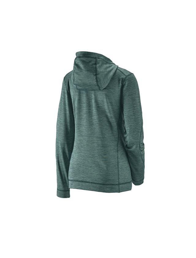 Work Jackets: Hooded jacket isocell e.s.dynashield, ladies' + specialgreen melange 2